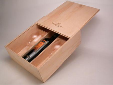 caja para botella y copas